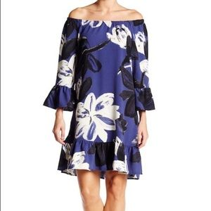 Bobeau Floral Bell Dress in S